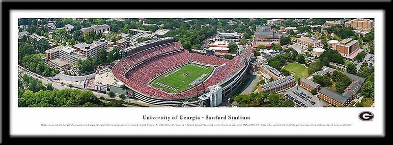 University of Georgia Framed Stadium Print