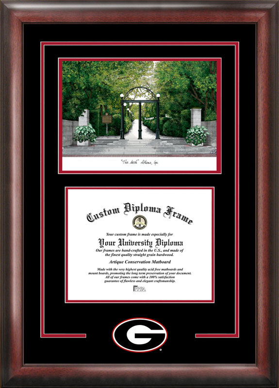 University of Georgia Spirit Graduate Frame with Campus Image