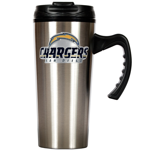 San Diego Chargers Furniture: San Diego Chargers NFL 16oz Stainless Steel Travel Mug