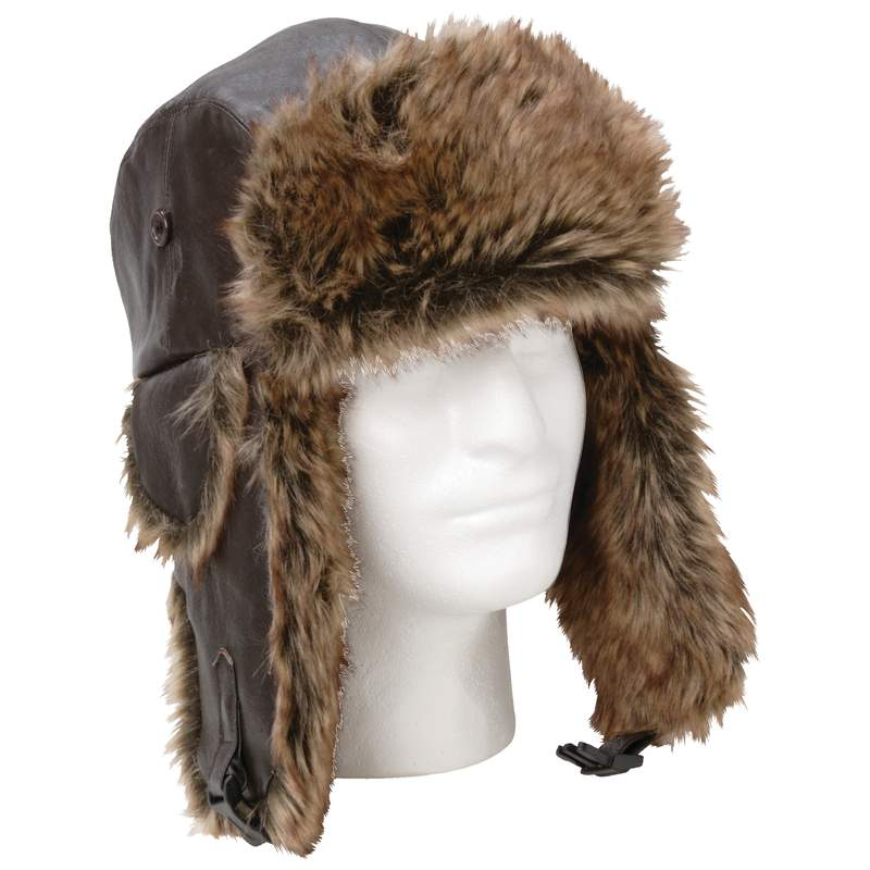 Giovanni Navarre® Solid Genuine Leather Aviator-style Winter Hat - GFAHAT