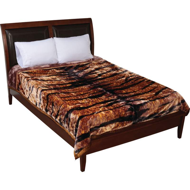 Wyndham House™ Tiger Print Heavy Luxury Blanket - GFBLH3222 - GFBLH3222