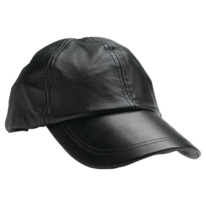 Giovanni Navarre® Solid Genuine Leather Baseball Cap - GFCAP2