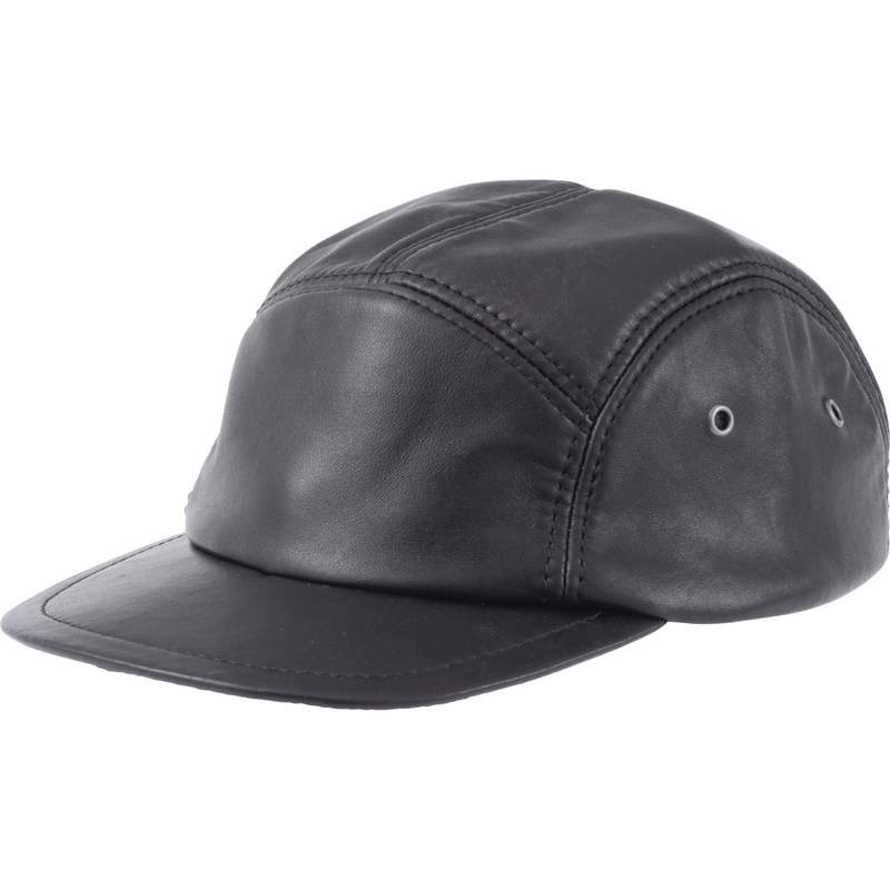 Casual Outfitters™ Solid Genuine Leather Cap - GFCAP5