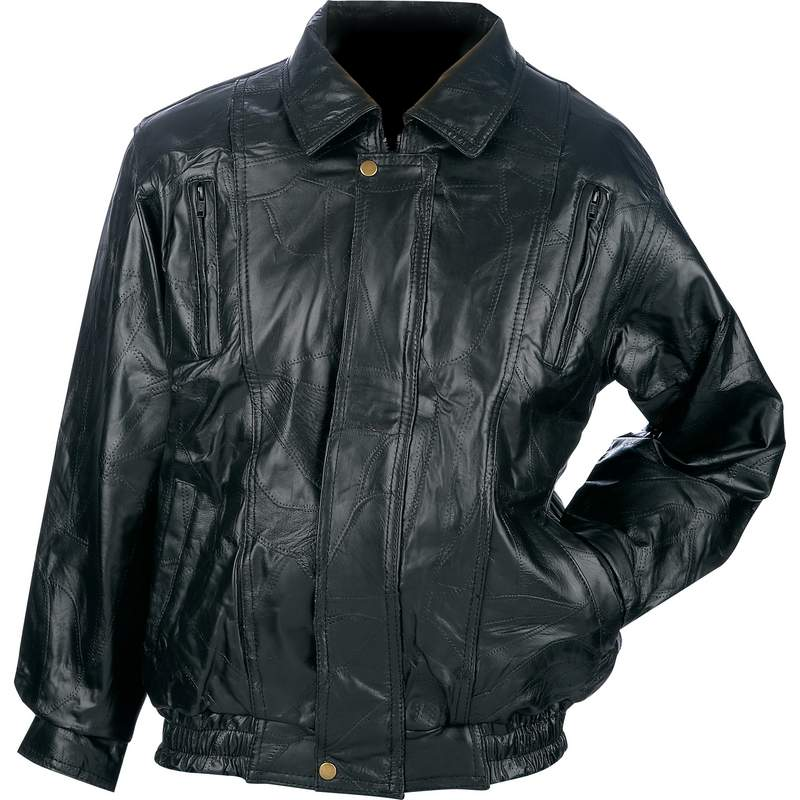 Maxam® Brand Italian Mosaic™ Design Genuine Top Grain Lambskin Leather Jacket - Medium - GFCOATM