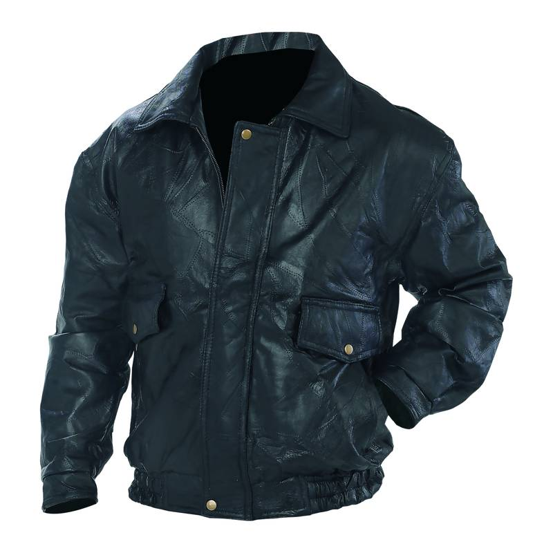 Napoline™ Roman Rock™ Design Genuine Leather Jacket - Medium - GFEUCTM