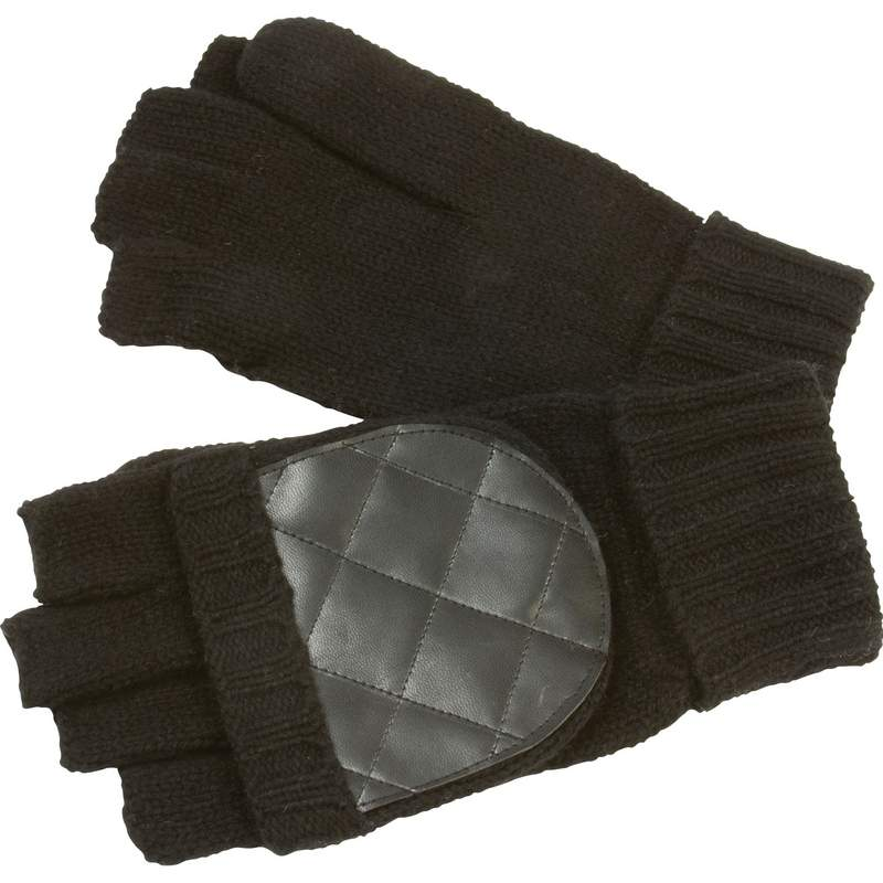 Casual Outfitters™ Men's Convertible Black Gloves/mittens - GFGLVMTB