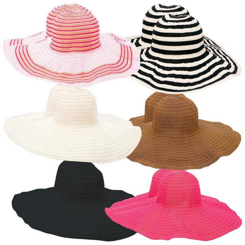 Casual Outfitters™ 12pc Assorted Ladies' Floppy Sun Hat Set - GFHATF12 - GFHATF12