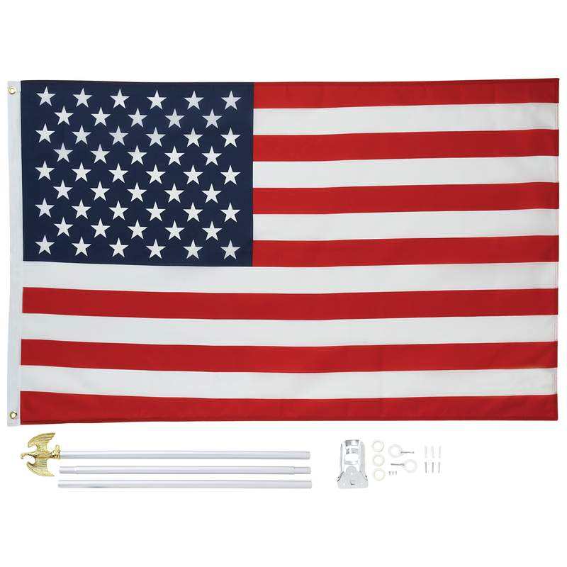 5' X 3' United States Flag And Pole Kit - GFLGKIT