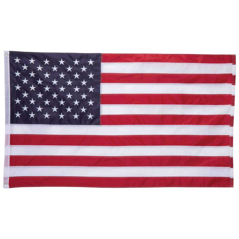5' X 3' 100% Oxford Nylon Embroidered Usa Flag - GFLGN35