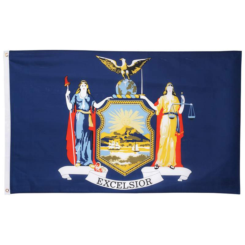 5' X 3' New York State Flag - GFLGNY35