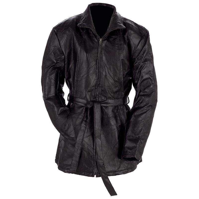 Giovanni Navarre® Ladies' Italian Stone™ Design Genuine Leather Jacket - Small - GFLZPBS