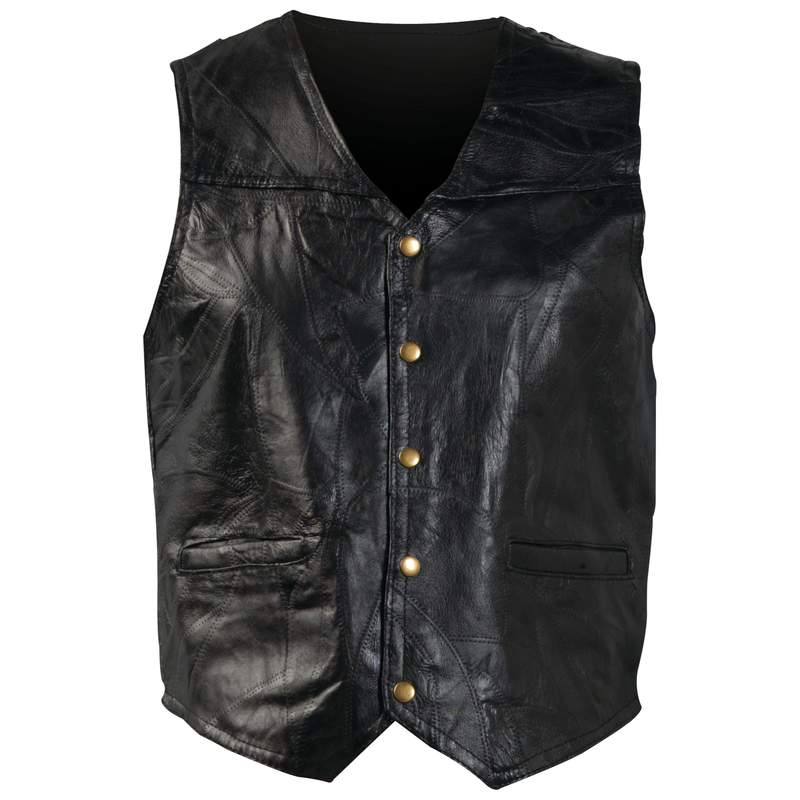 Giovanni Navarre® Italian Stone™ Design Genuine Leather Vest - 2x - GFVXXL - GFVXXL
