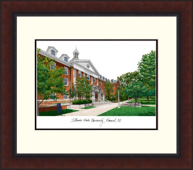 Illinois State Legacy Alumnus Framed Lithograph
