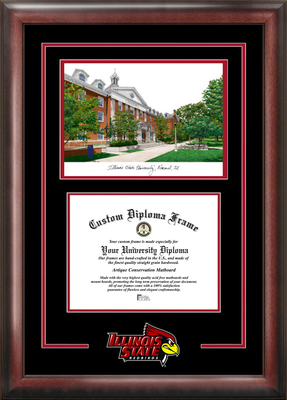 Illinois State  Spirit Graduate Frame with Campus Image