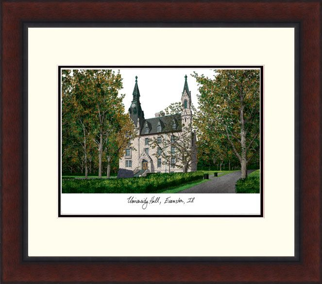 Northwestern University Legacy Alumnus Framed Lithograph
