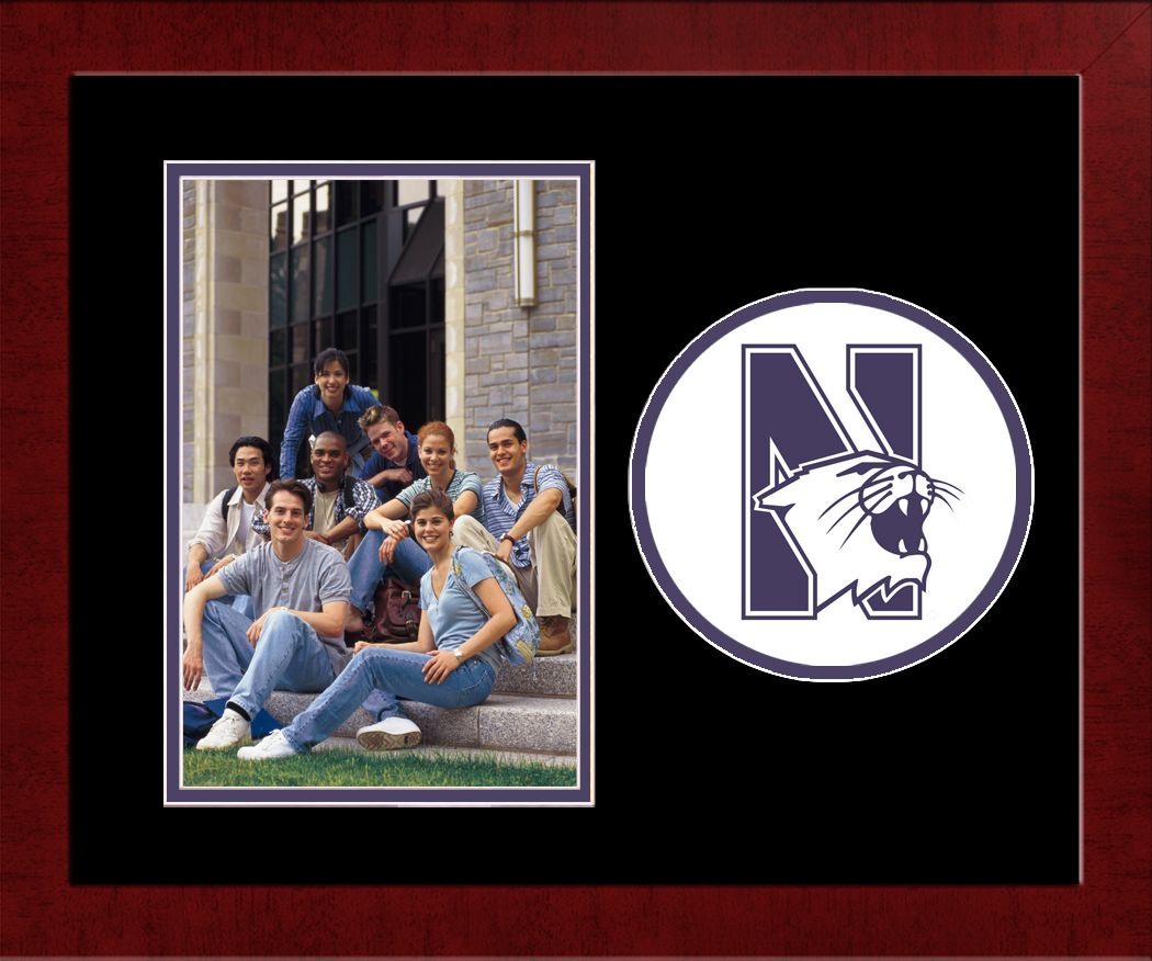 Northwestern University Spirit Photo Frame (Vertical)