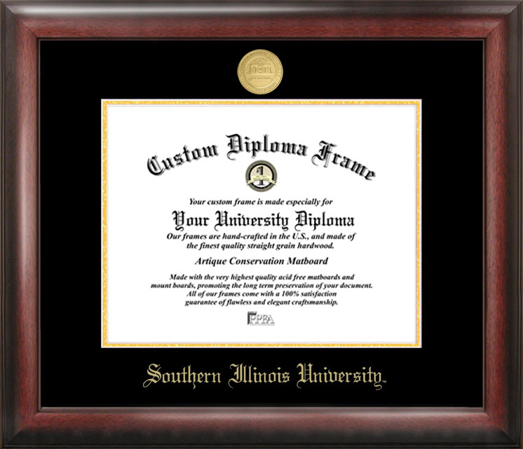 Southern Illinois  University Gold Embossed Diploma Frame