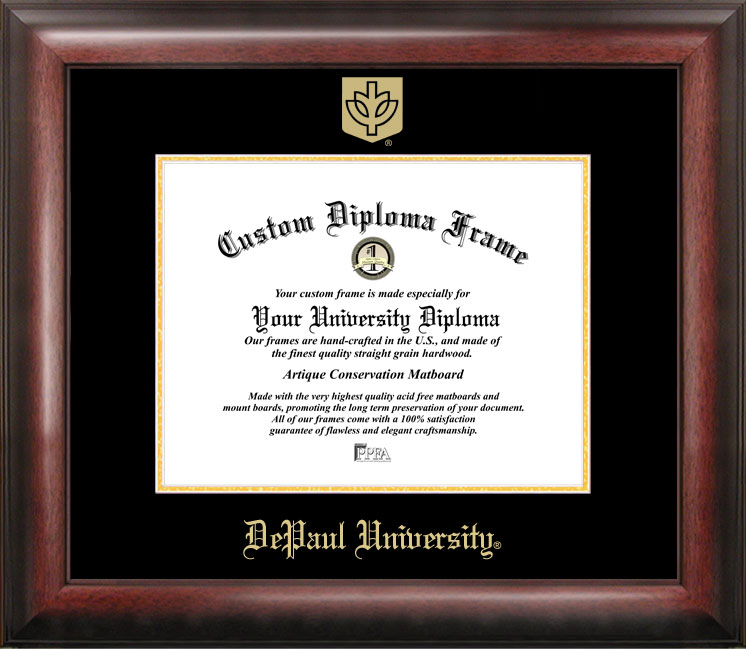 DePaul University Gold Embossed Diploma Frame