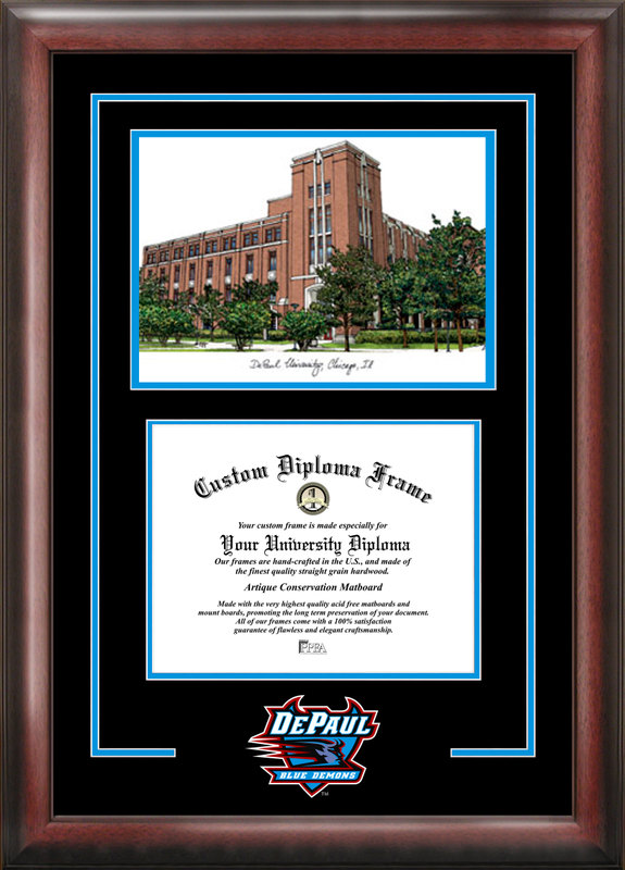 DePaul University Spirit  Graduate Frame with Campus Image