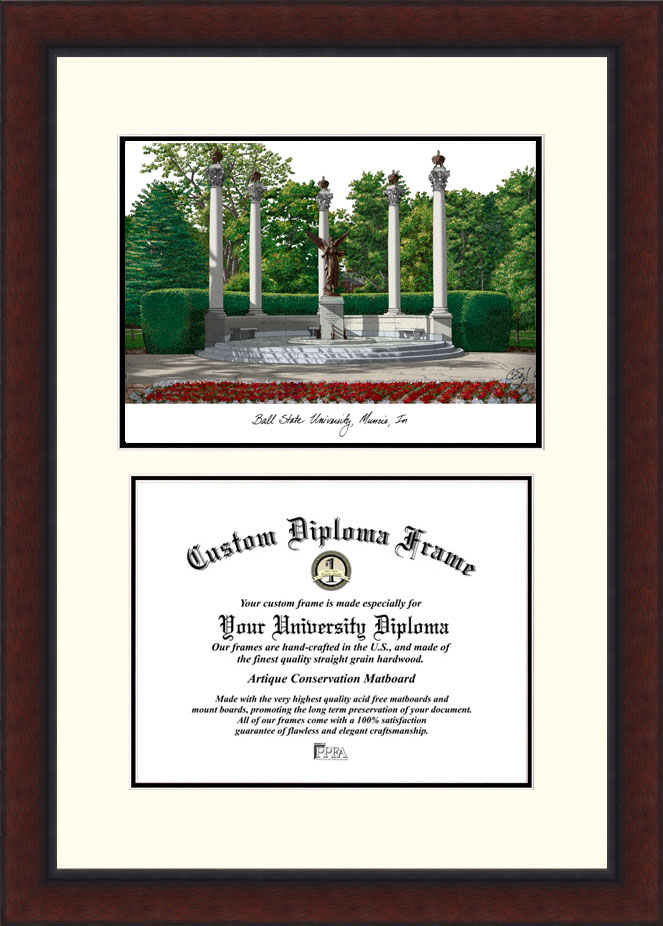 Ball State University  Legacy Scholar Diploma Frame