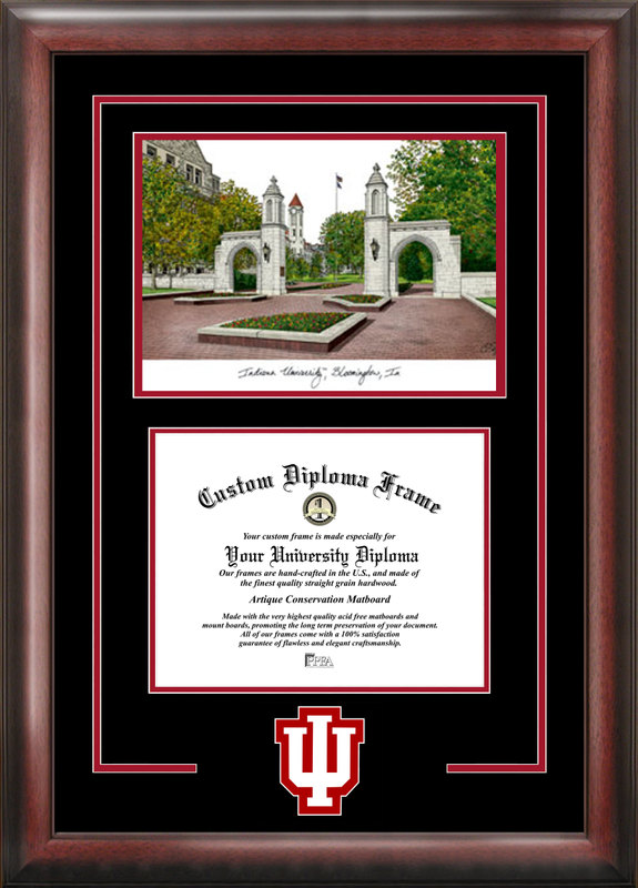 Indiana University, Bloomington  Spirit Graduate Frame with Campus Image