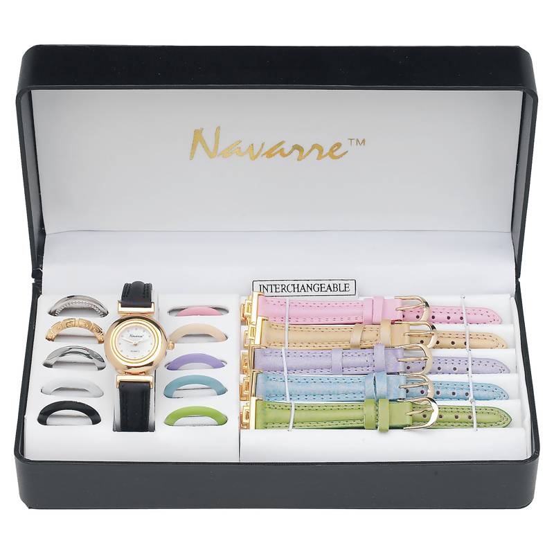 Navarre™ Ladies' Watch With Interchangeable Bands And Faces - JELWAT