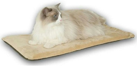 Thermo Mat Heated Cat Bed - Mocha - KH-3291