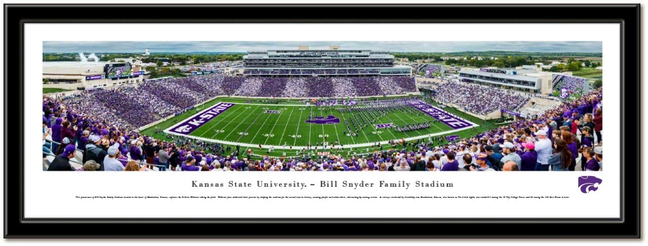 Kansas State University Framed Stadium Print