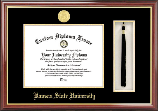 Kansas State University   Tassel Box and Diploma Frame