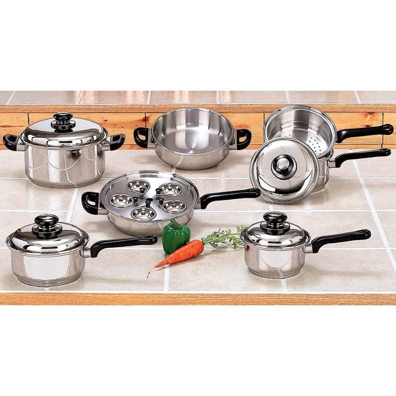 17pc Stainless Steel Cookware Set - KT172