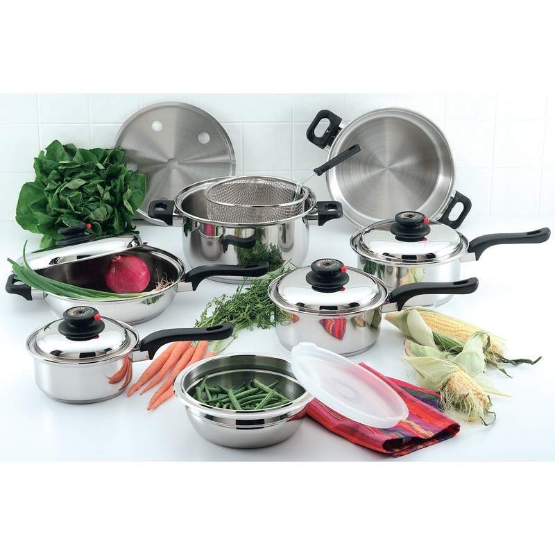 Chef's Secret® 15pc 12-element T304 Stainless Steel Cookware - KT915 - KT915