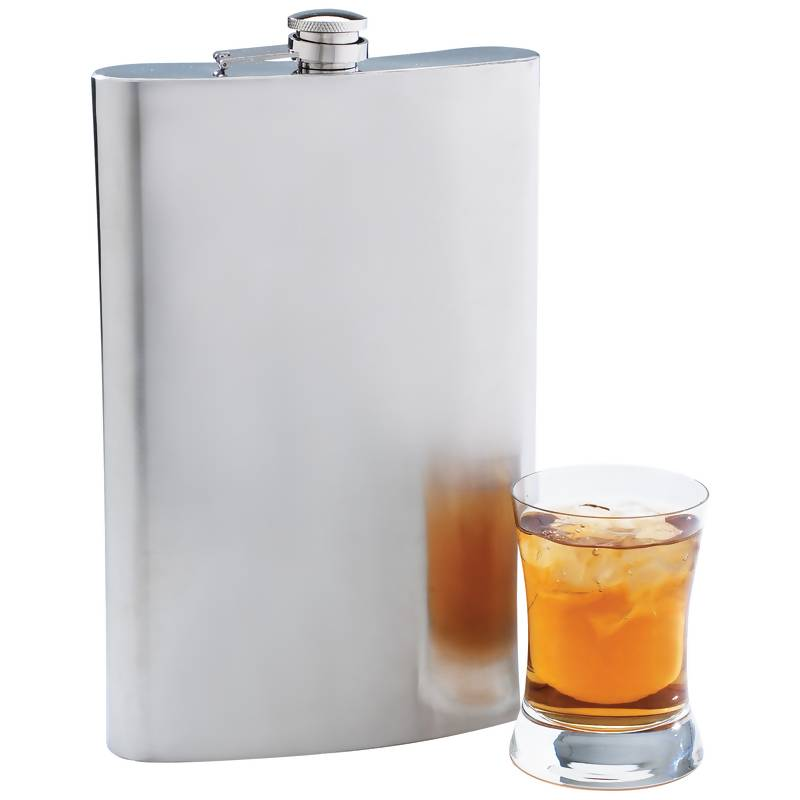 Maxam® 64oz Jumbo Stainless Steel Flask - KTFLASK64
