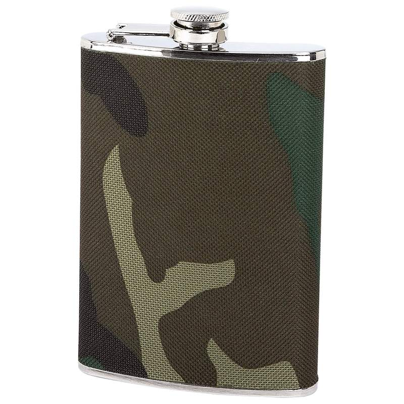 Maxam® 8oz Stainless Steel Flask With Camouflage Wrap - KTFLASKCW