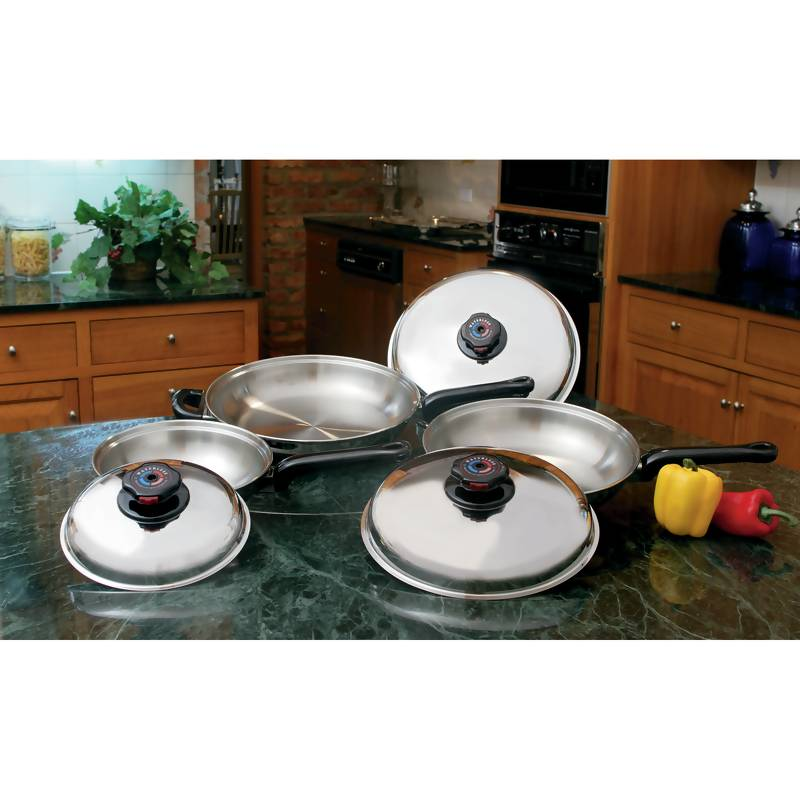 Precise Heat™ 6pc 12-element T304 Stainless Steel Skillet Set - KTFP3 - KTFP3