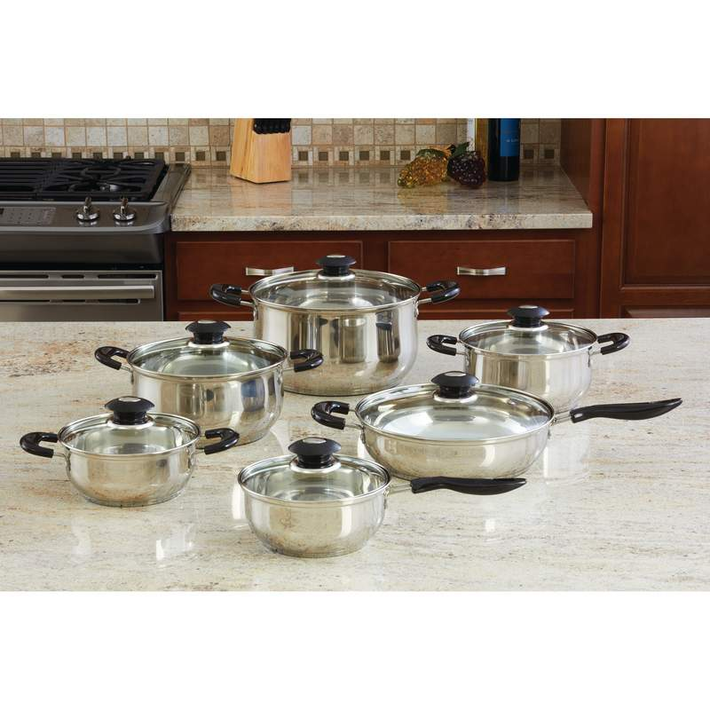 Wyndham House™ By Justin Wilson™ 12pc Stainless Steel Cookware Set - KTS123 - KTS123