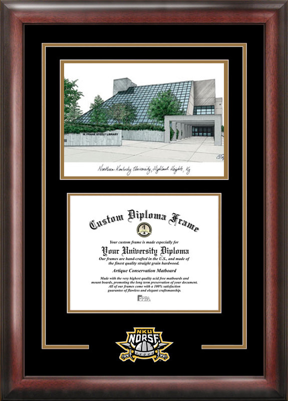 Northern Kentucky  University Spirit  Graduate Frame with Campus Image