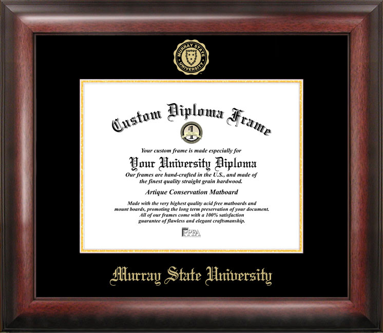Murray State University Gold Embossed Diploma Frame