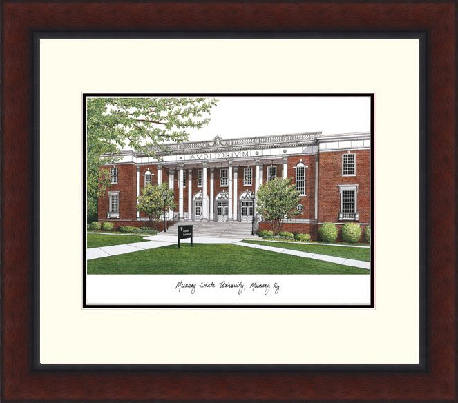Murray State University Legacy Alumnus Framed Lithograph