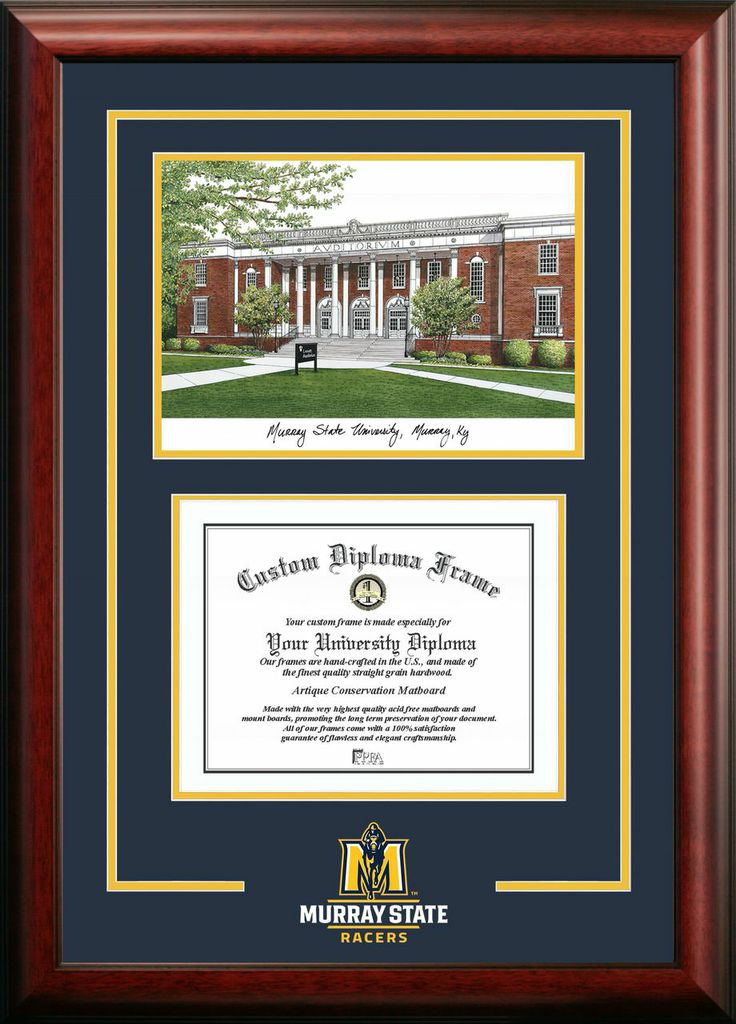 Murray State University Spirit Graduate Frame with Campus Image