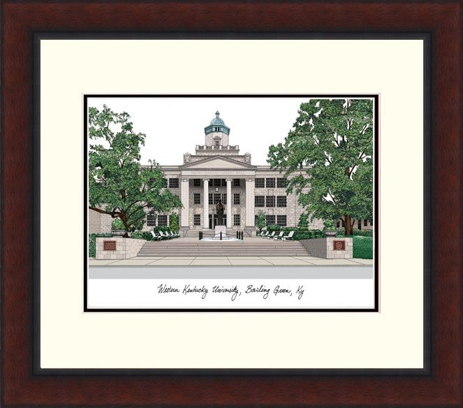 Western Kentucky University Legacy Alumnus Framed Lithograph