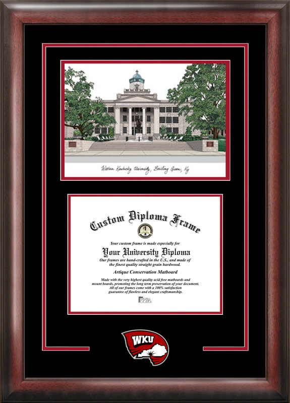 Western Kentucky University Spirit Graduate Frame with Campus Image