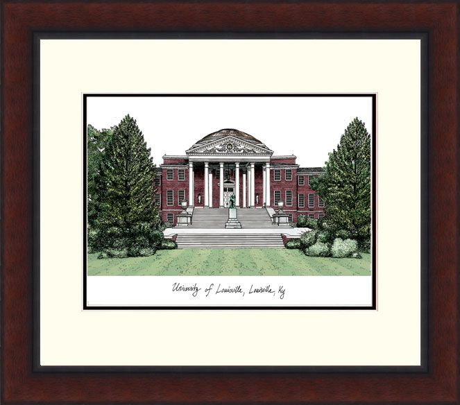 University of Louisville Legacy Alumus Lithograph
