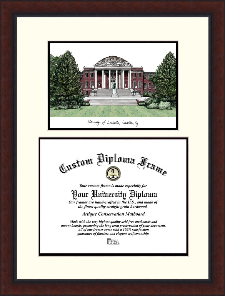 University of Louisville  Legacy Scholar Diploma Frame