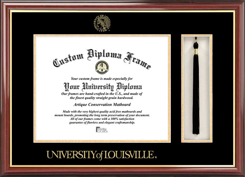 University of Louisville 14x17 Tassel Box and Diploma Frame