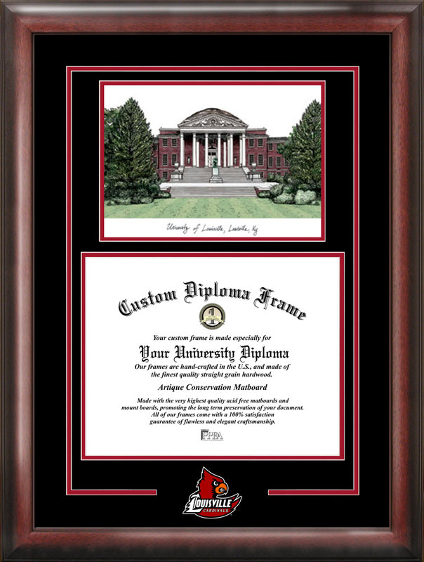 University of Louisville Spirit Graduate Frame with Campus Image