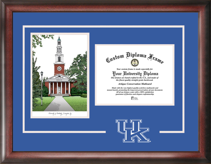 University of Kentucky Spirit Graduate Frame with Campus Image