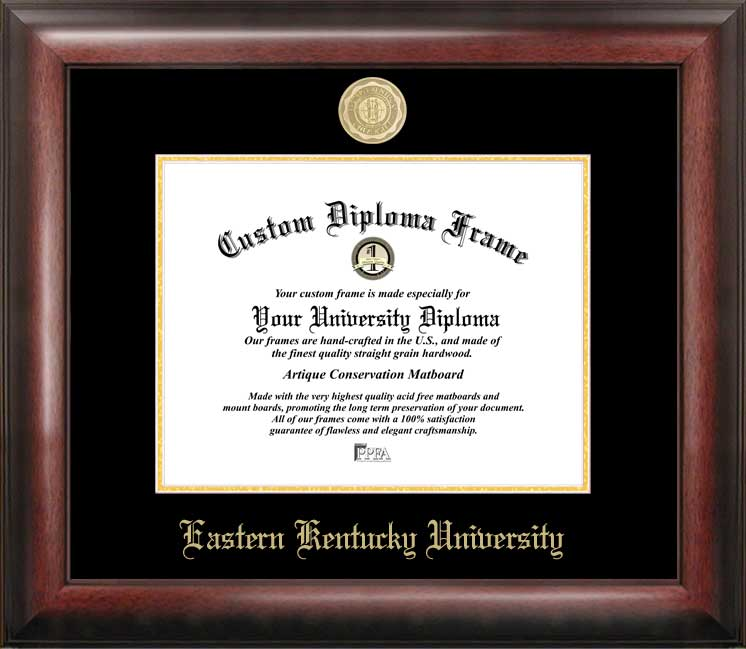 Eastern Kentucky University Gold Embossed Diploma Frame