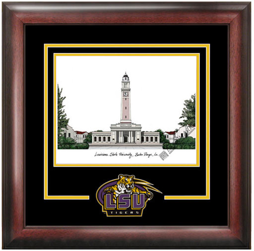 Louisiana State University Spirit Litho Frame
