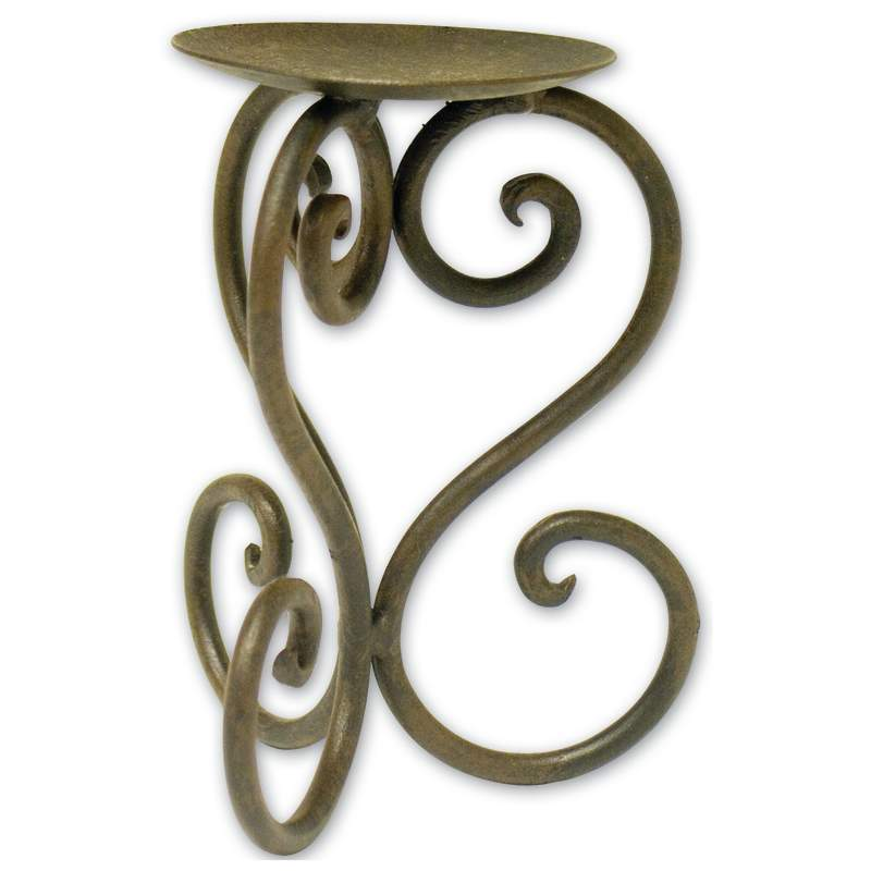 Luca Bella Home™ Wrought Iron Heart Pillar Holder - LB5083 - LB5083