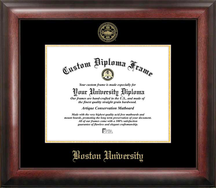 Boston University Gold Embossed Diploma Frame